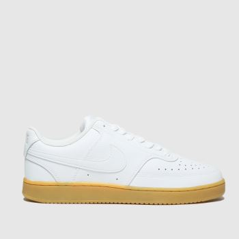 Nike White & Brown Court Vision Low Mens Trainers