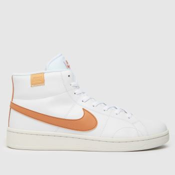 Nike White & Beige Court Royale 2 Mid Mens Trainers