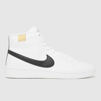 Nike White & Black Court Royale 2 Mid Mens Trainers
