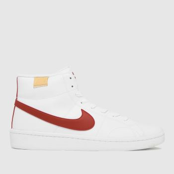 Nike White & Red Court Royale 2 Mid Mens Trainers