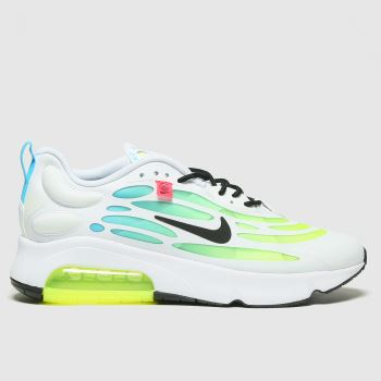 Nike White & Green Air Max Exosense Mens Trainers