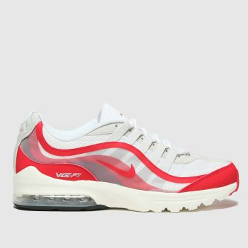 Nike White & Red Air Max Vg-r Mens Trainers