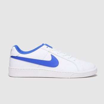 Nike White & Blue Court Royale Mens Trainers