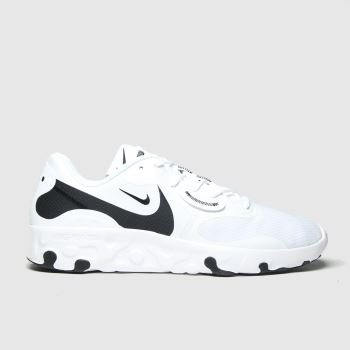 Nike White & Black Renew Lucent 2 Mens Trainers#