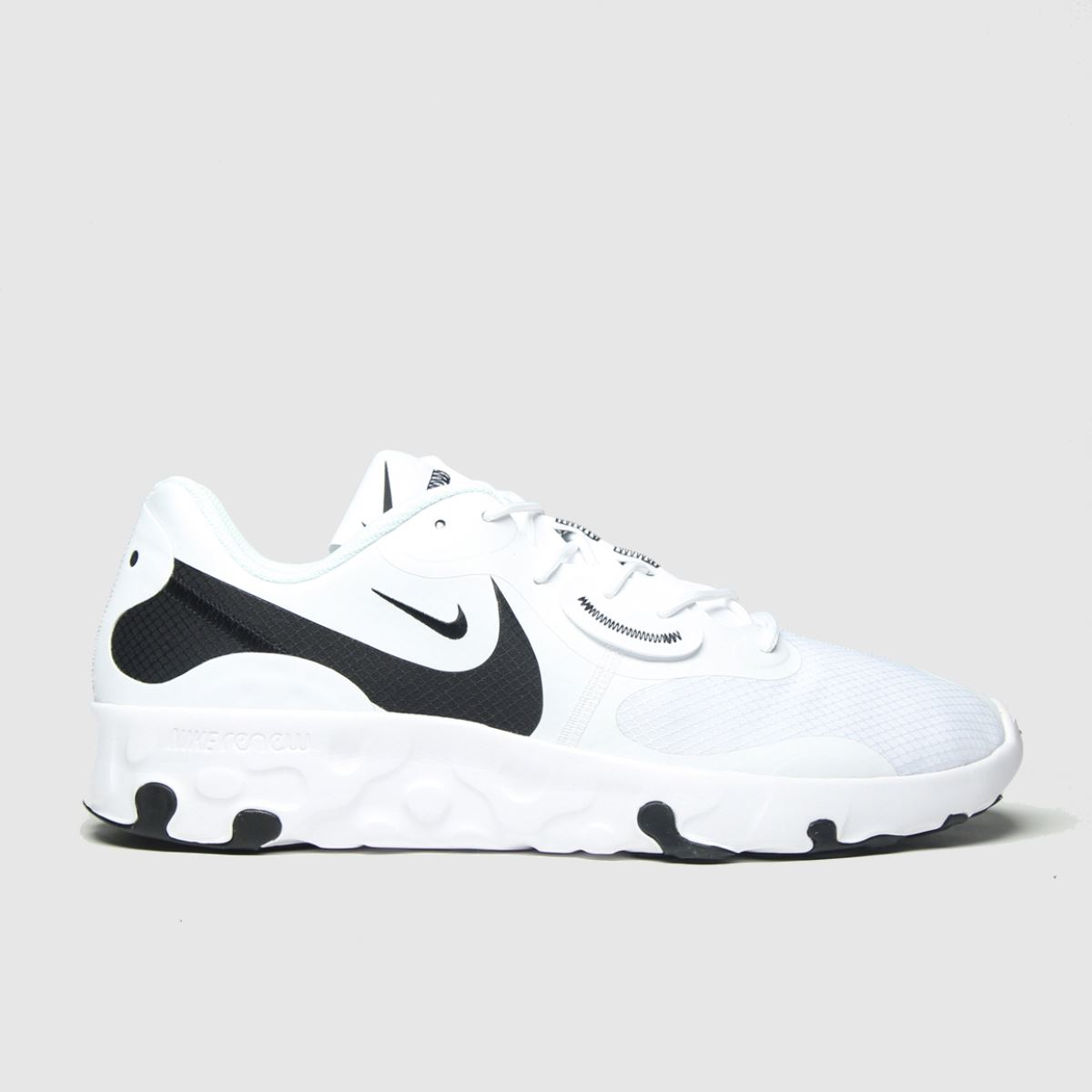 Nike White & Black Renew Lucent 2 Trainers