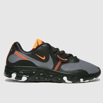Nike Black & Orange Renew Lucent 2 Mens Trainers#