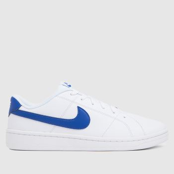 Nike White & Blue Court Royale 2 Low Mens Trainers