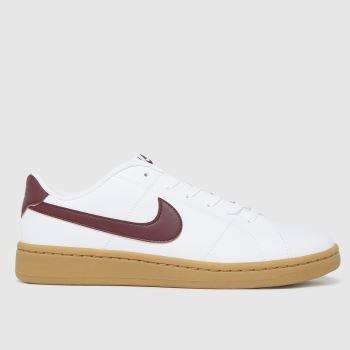 Nike White & Burgundy Court Royale 2 Low Mens Trainers