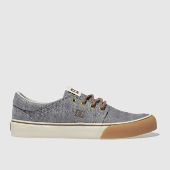 DC SHOES LIGHT GREY DC TRASE TX SE TRAINERS