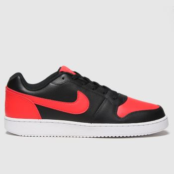 Nike Black & Orange Ebernon Low Mens Trainers