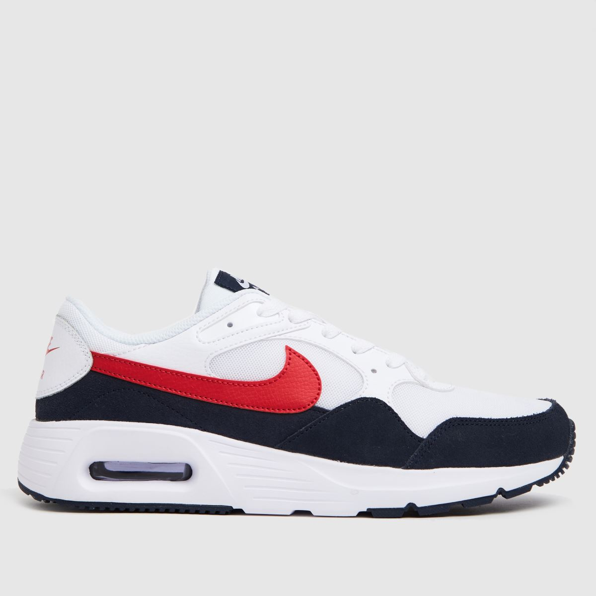 Nike White & Red Air Max Sc Trainers