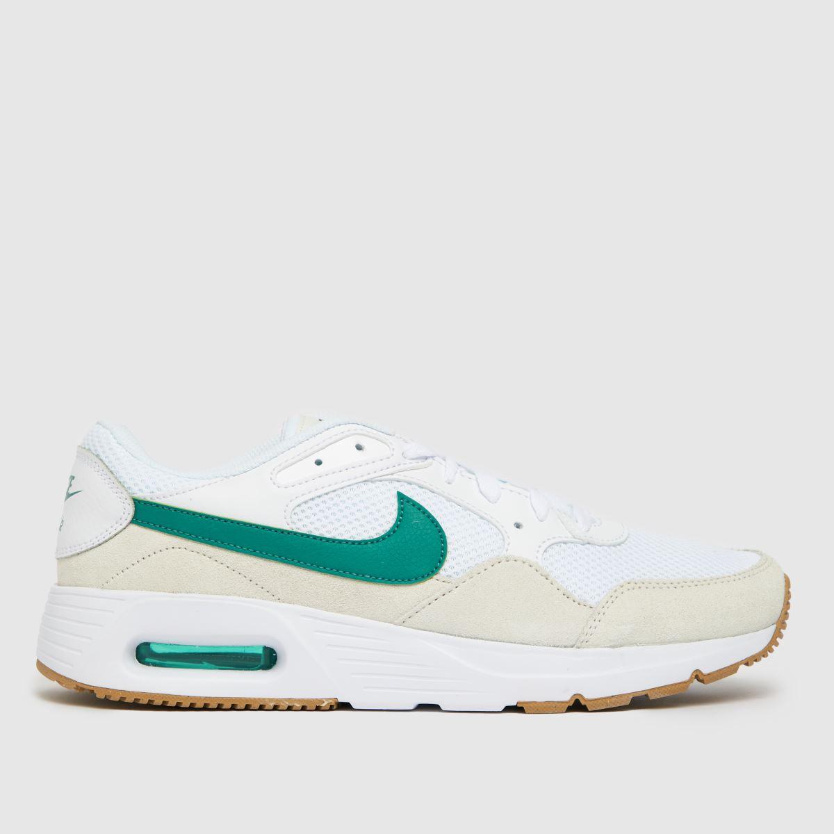 Nike White & Green Air Max Sc Trainers