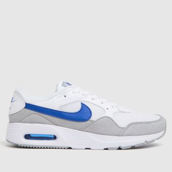 Nike white & blue air max sc trainers