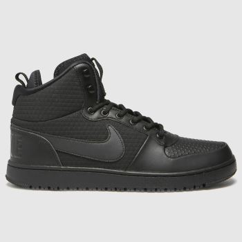 Nike Black Court Borough Mid Winter Mens Trainers