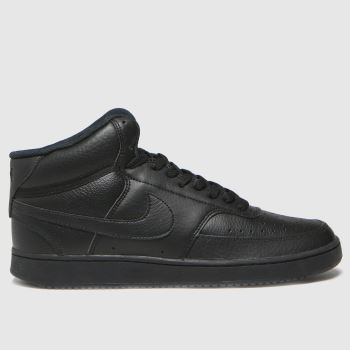 Nike Black Court Vision Mid Mens Trainers