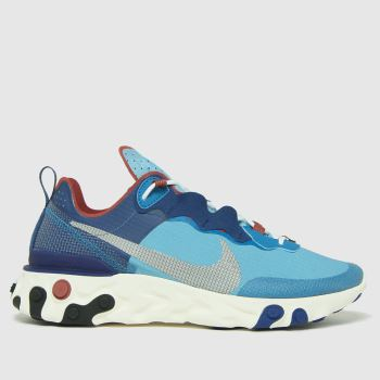 Nike Blue React Element 55 Mens Trainers