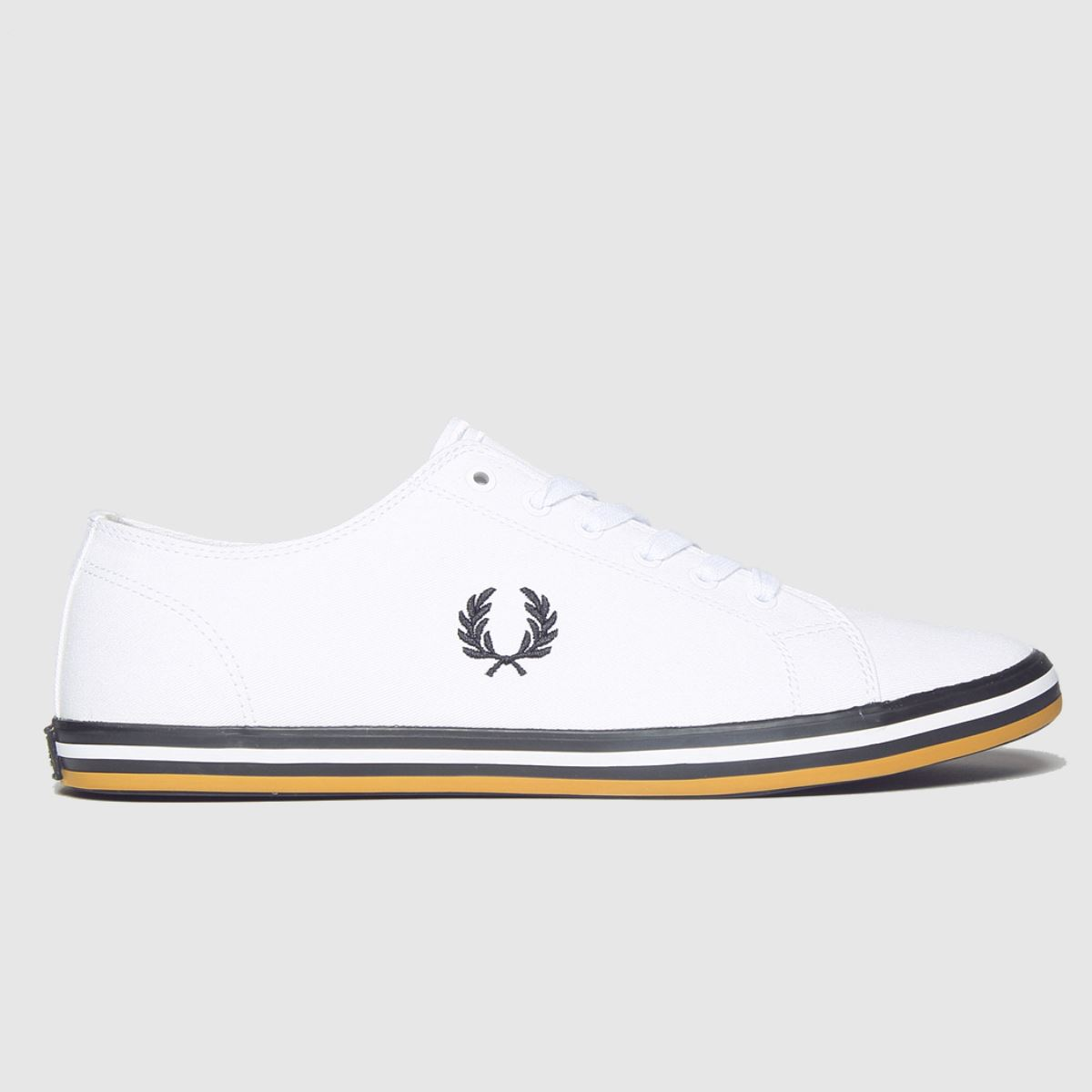 Fred Perry White & Black Kingston Twill Trainers
