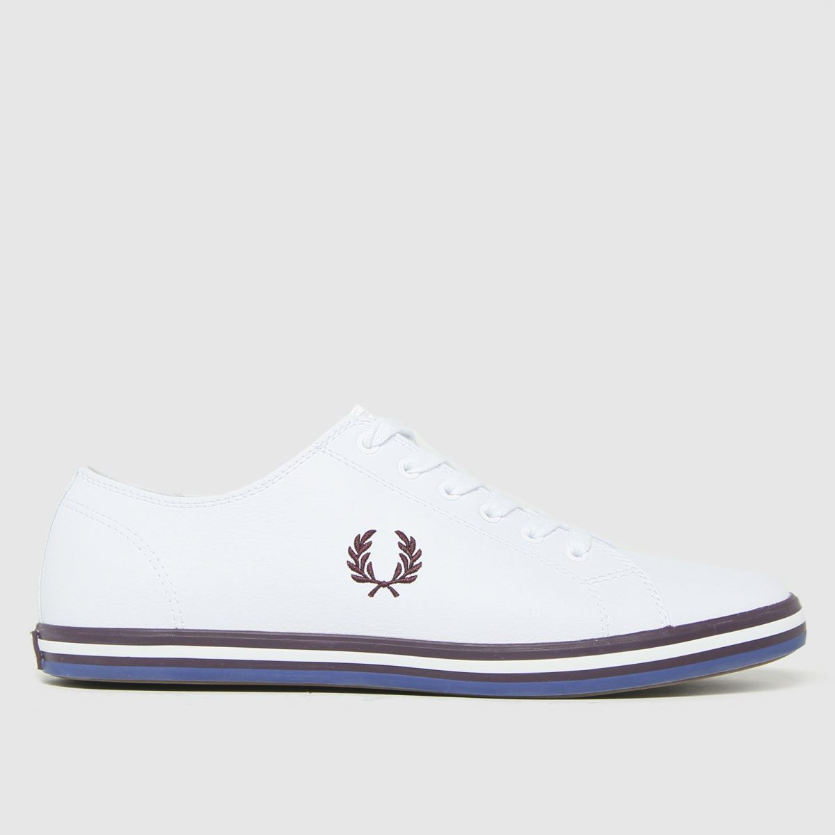 Fred Perry White & Burgundy Kingston Leather Trainers