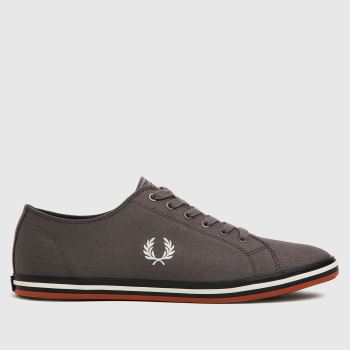 Fred Perry Dark Grey Kingston Twill Mens Trainers