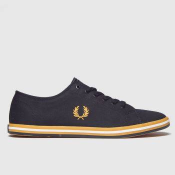 Fred Perry Black & Gold Kingston Twill Mens Trainers