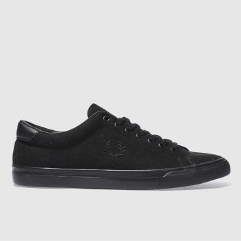FRED PERRY BLACK UNDERSPIN TRAINERS