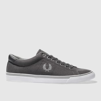 FRED PERRY DARK GREY UNDERSPIN TRAINERS