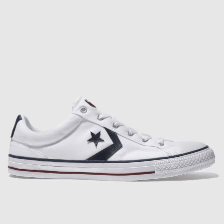 60ab2947d45e mens white   navy converse star player re-mastered trainers