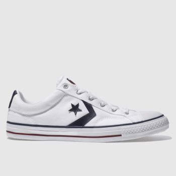 7a3e8b81140f Converse White   Navy Star Player Re-Mastered Mens Trainers