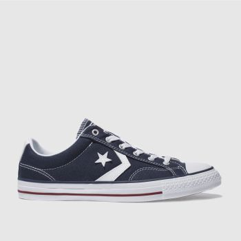 Converse Navy & White Star Player Re-mastered Mens Trainers#