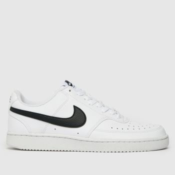 Nike White & Black Court Vision Low Better Mens Trainers