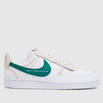 Nike White & Green Court Vision Low Premium Mens Trainers