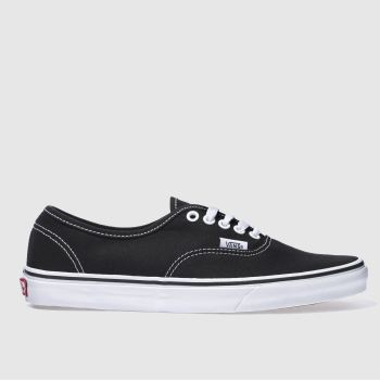 Vans Black & White Authentic Mens Trainers