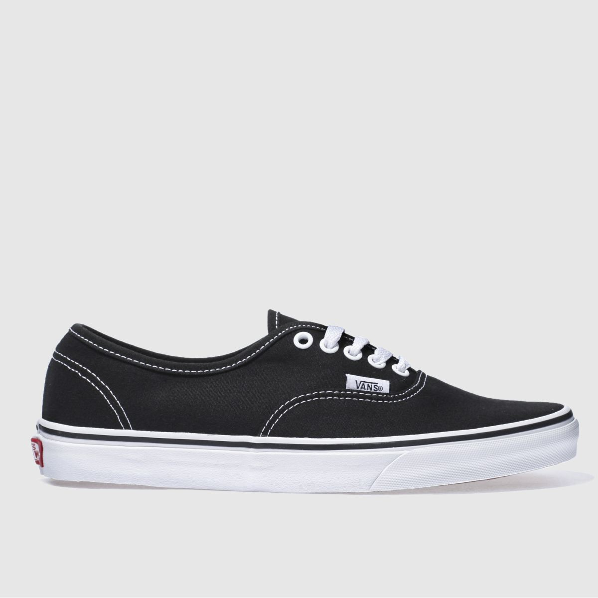 Click to view product details and reviews for Vans Black White Authentic Trainers.