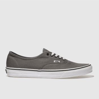 Vans Grey & Black Authentic Mens Trainers