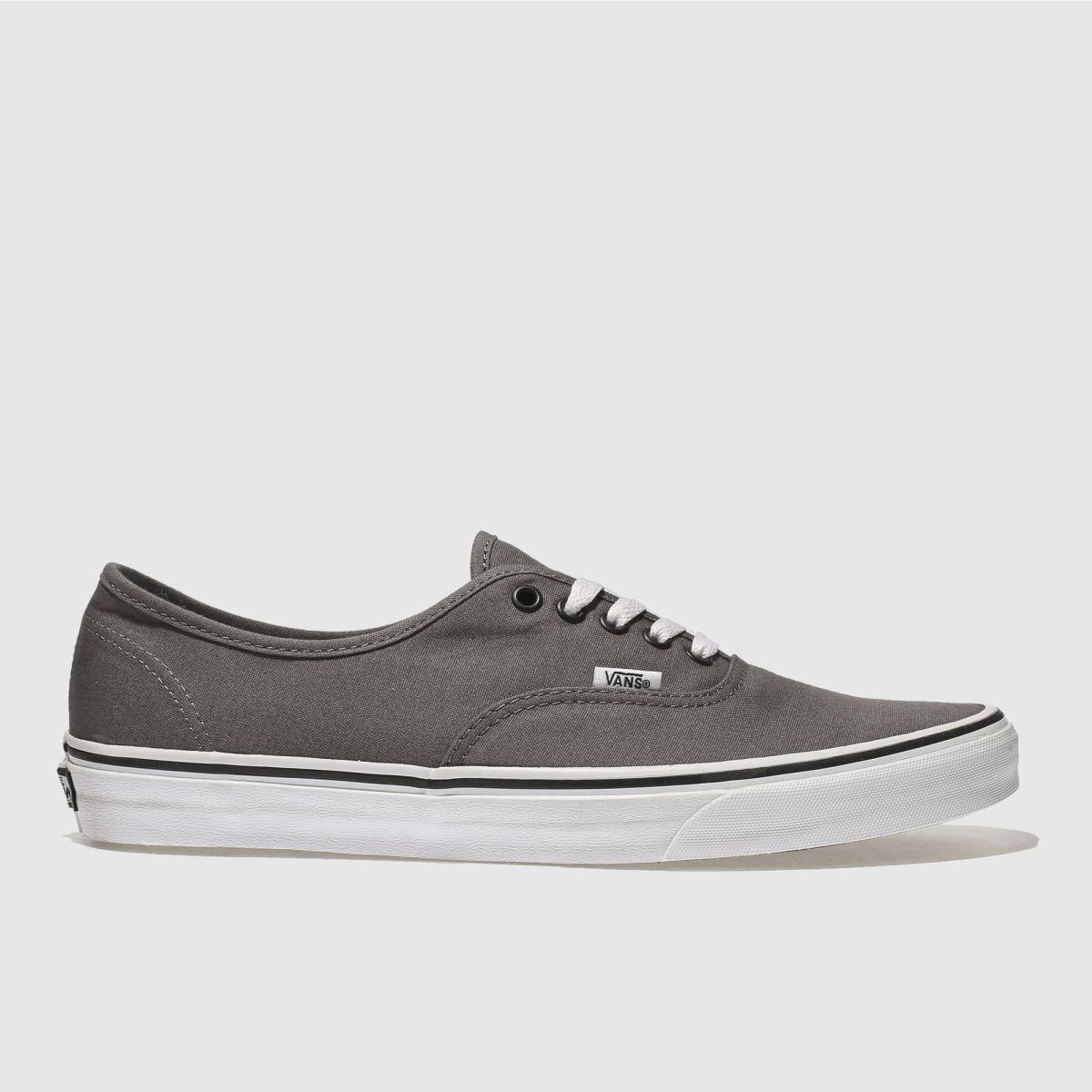 Vans Grey & Black Authentic Trainers