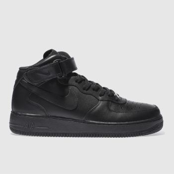 outlet store ea775 1e644 Nike Black Air Force 1 Mid Mens Trainers