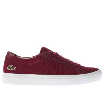LACOSTE BURGUNDY L.12.12 TRAINERS