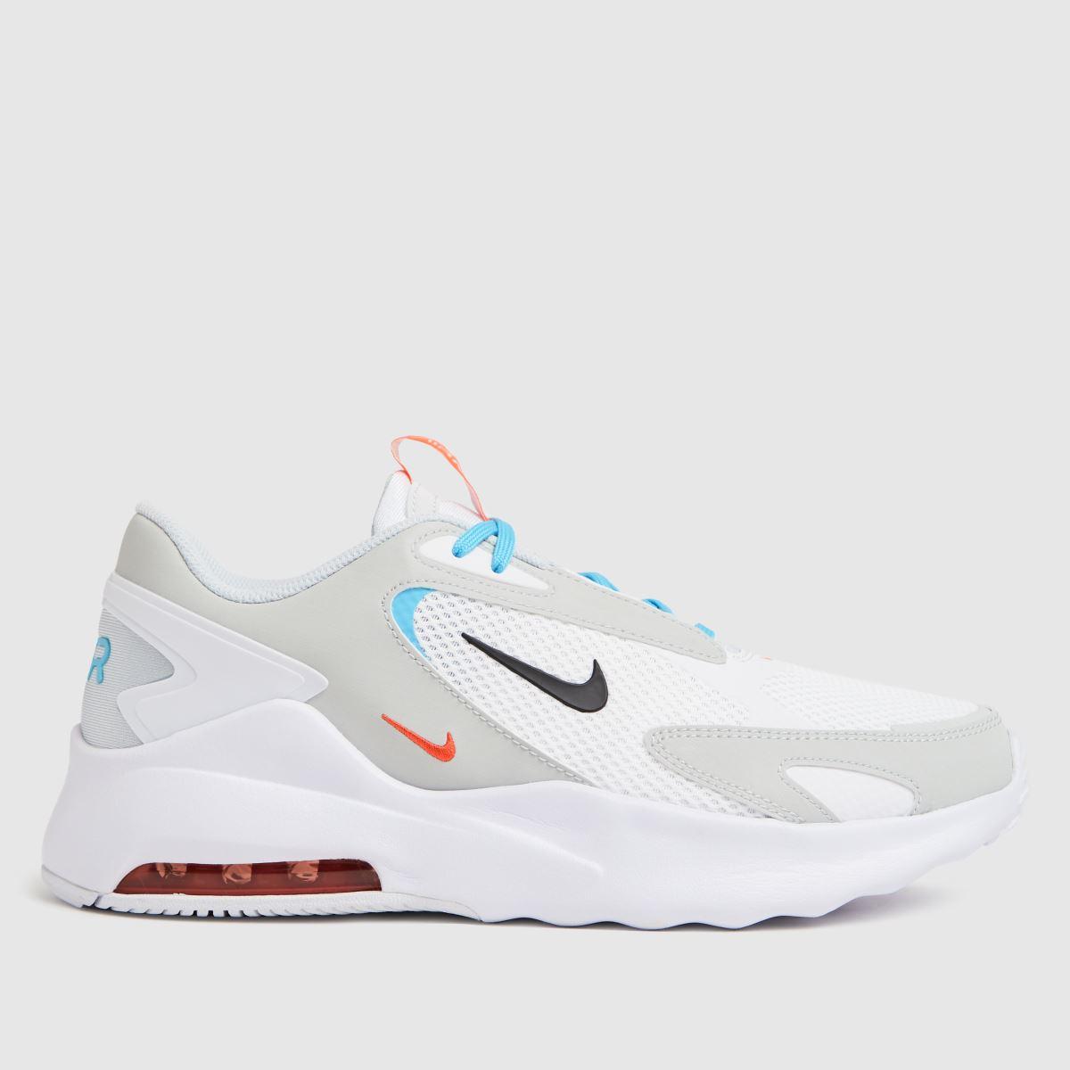 Nike White & Pl Blue Air Max Bolt Trainers