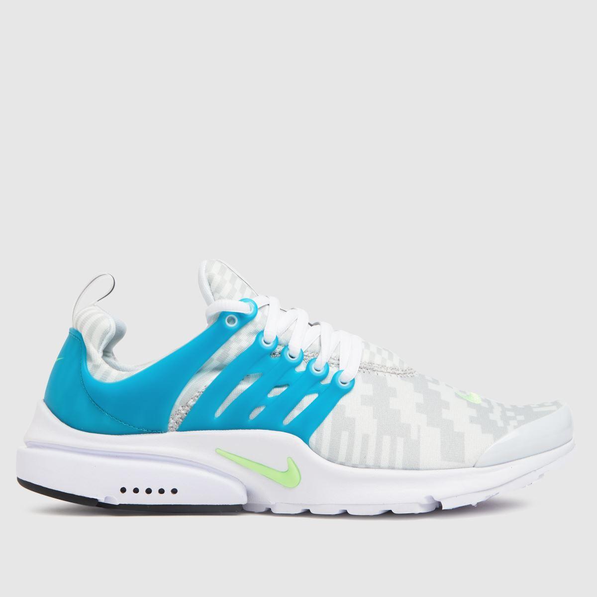 Nike White & Pl Blue Air Presto Trainers