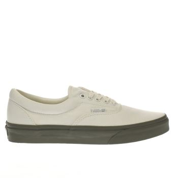 VANS WHITE & GREEN VANSGUARD ERA TRAINERS