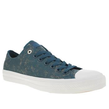 CONVERSE BLUE ALL STAR II OX REFLECTIVE WASH TRAINERS