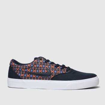 Nike Sb Navy & Red Charge Mens Trainers