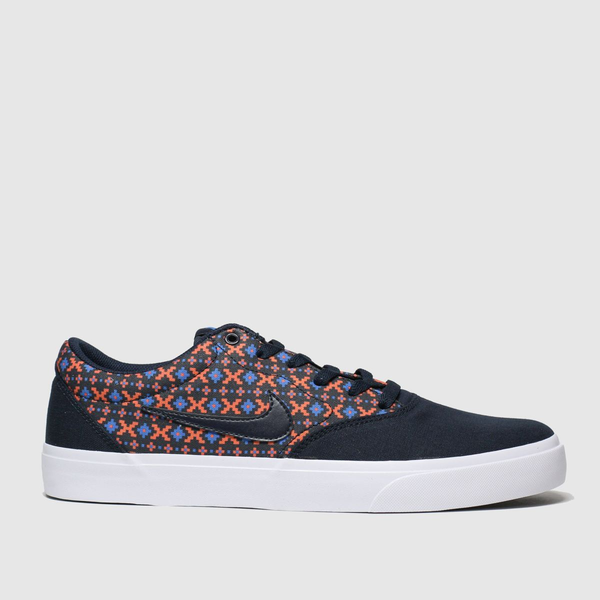 Nike Sb Navy & Red Charge Trainers