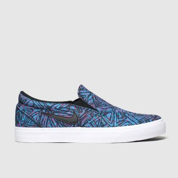 Nike Sb Blue & Black Charge Slip Premium Mens Trainers