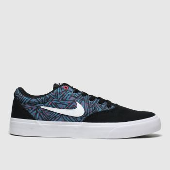 Nike Sb Black & Purple Charge Premium Mens Trainers