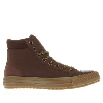 CONVERSE DARK BROWN CHUCK TAYLOR ALL STAR BOOT TRAINERS