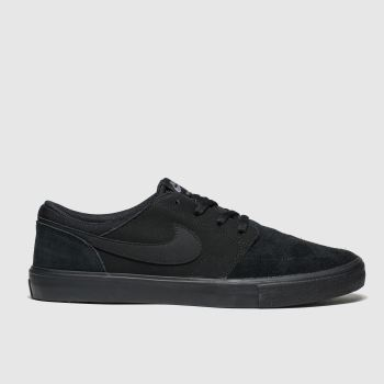 Nike Sb Black Portmore Ii Solarsoft Mens Trainers
