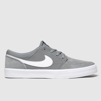 Nike SB Grey Solarsoft Portmore Ii Mens Trainers