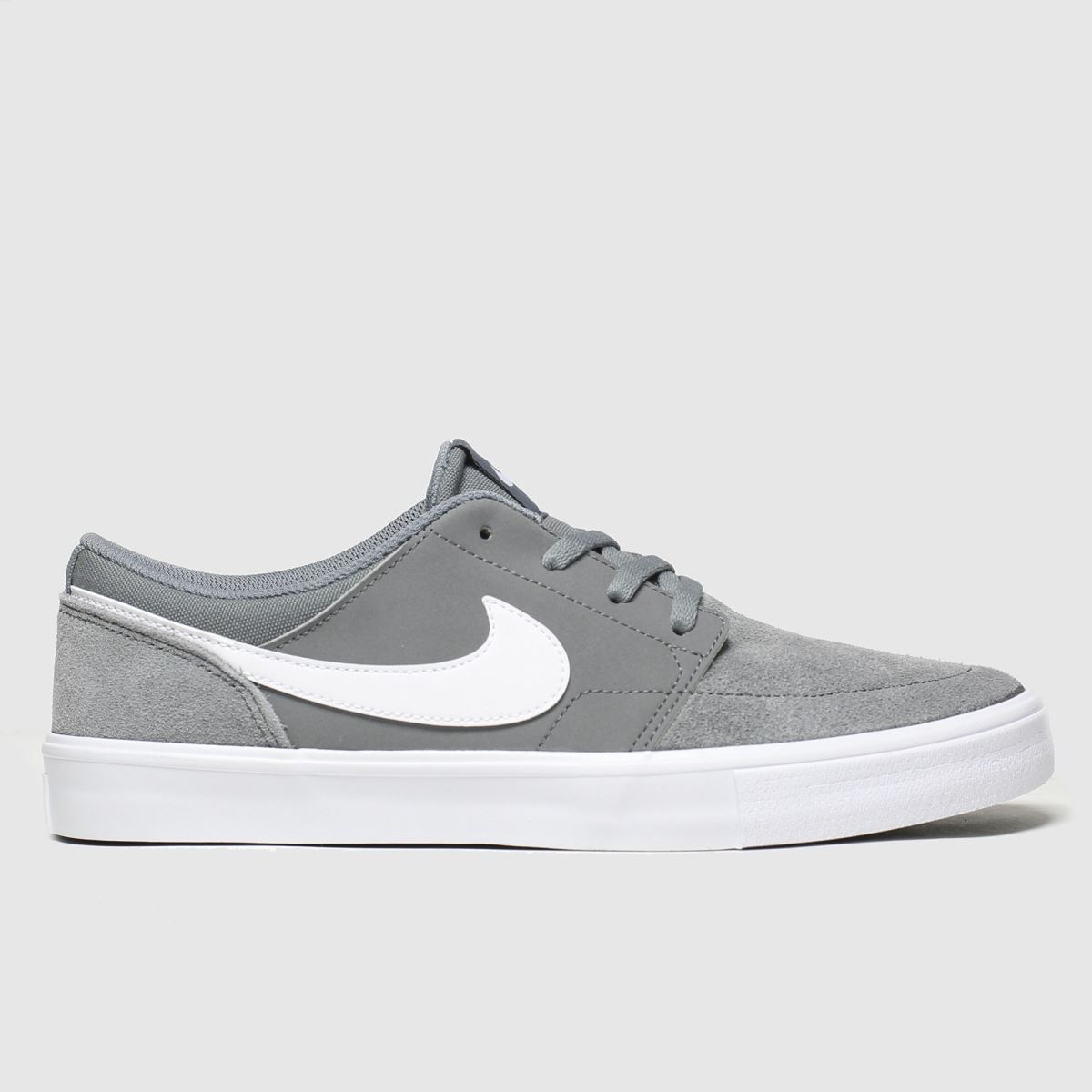 Nike SB Nike SB Grey Solarsoft Portmore Ii Trainers