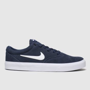 Nike Sb Navy & White Charge Mens Trainers